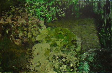 Kozín (z cyklu Místa), 130 x 200  cm, akryl na plátně