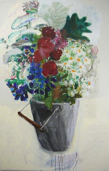Polní kytka, 175 x 110  cm, akryl na plátně