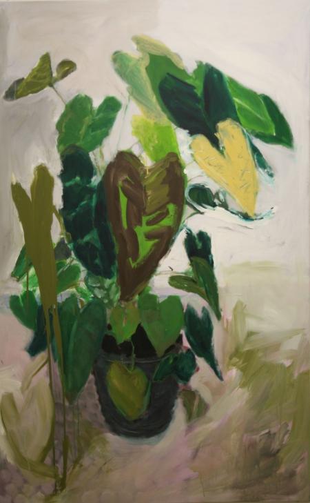 Anturie, 175 x 110  cm, akryl na plátně