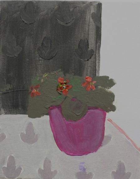 Fialka, 50 x 40  cm, akryl na plátně
