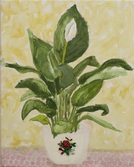 Lilie, 50 x 40  cm, akryl na plátně