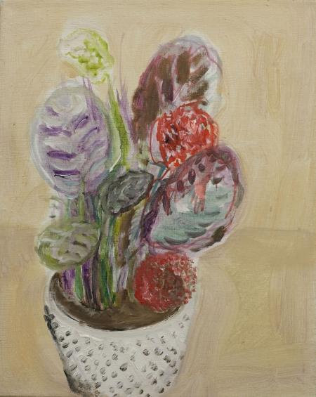 Maranta II, 50 x 40  cm, akryl na plátně