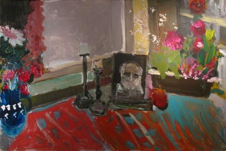 Zátiší v Bechyni, 122 x 220  cm, akryl na sololitu