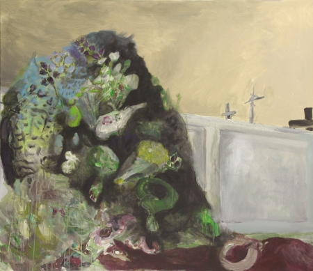 Hřbitovní kvítí  IV , 130 x 150  cm, akryl na plátně, soukromá sbírka