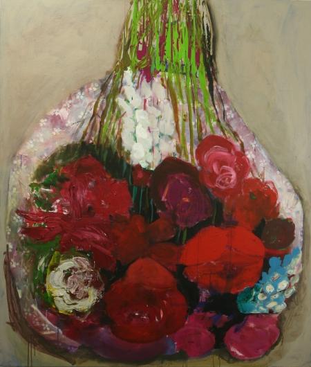 Kytice II, 200 x 170  cm, akryl na plátně, soukromá sbírka
