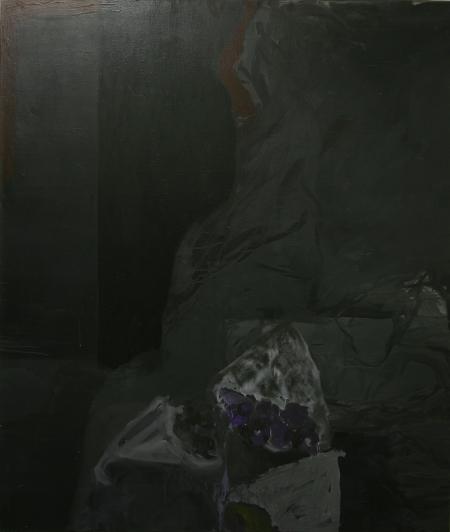 Hřbitovní kvítí IX, 200 x 170  cm, akryl na plátně