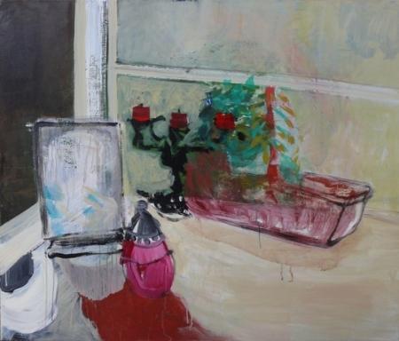 Stůl II, 110 x 130 cm, akryl na plátně