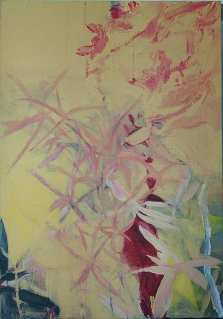 Zahrada, 200 x 140 cm, akryl na plátně, soukromá sbírka
