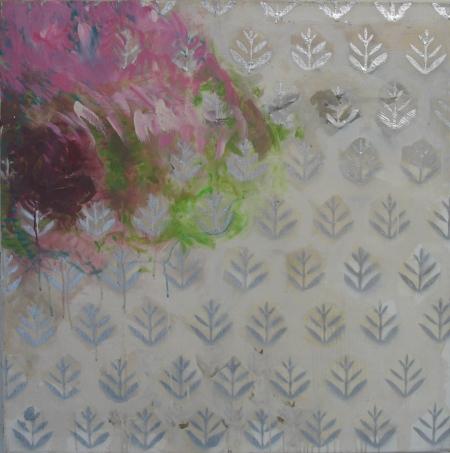 Zahradníkova rakovina I, 100 x 100 cm, akryl na plátně, soukromá sbírka