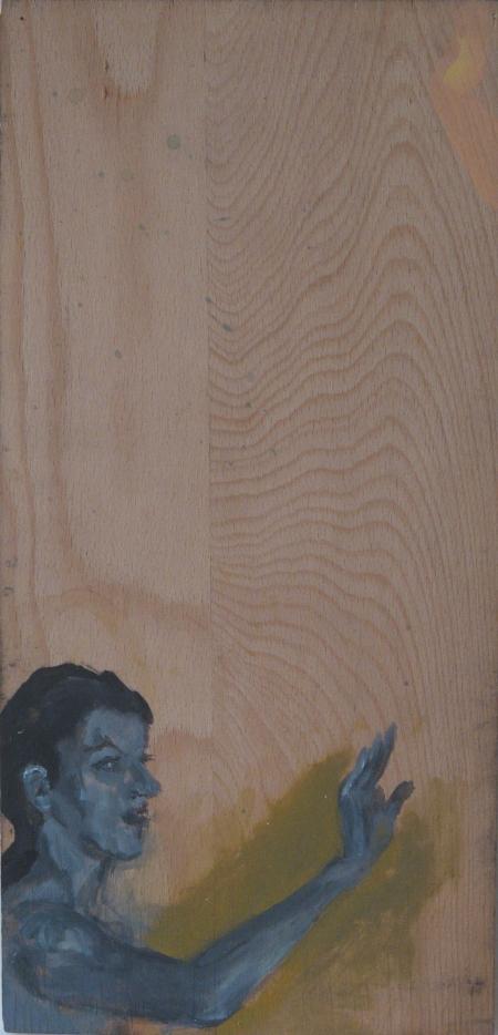 Scene of my hornyness III, 47 x 25 cm, acryl on wood