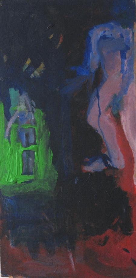 Scene of my hornyness II, 47 x 25 cm, acryl on wood