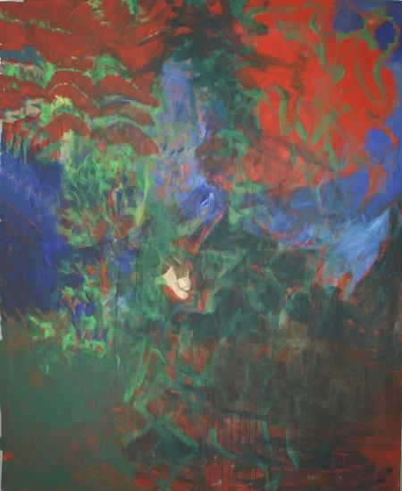 Bez názvu, 180 x 140 cm, akryl na plátně
