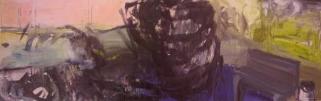 Park IV (diptych), 110 x 350 cm cm, akryl na plátně