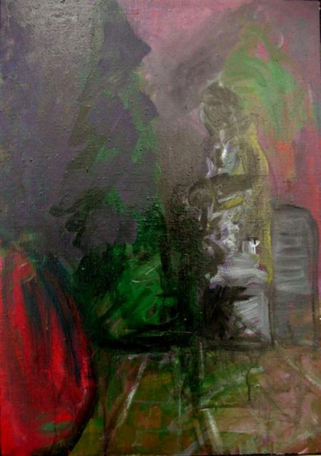 Park II, 70 x 50 cm, akryl na plátně, soukromá sbírka