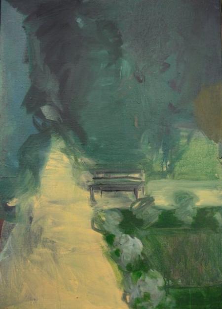 Park IV, 70 x 50 cm, akryl na plátně, soukromá sbírka