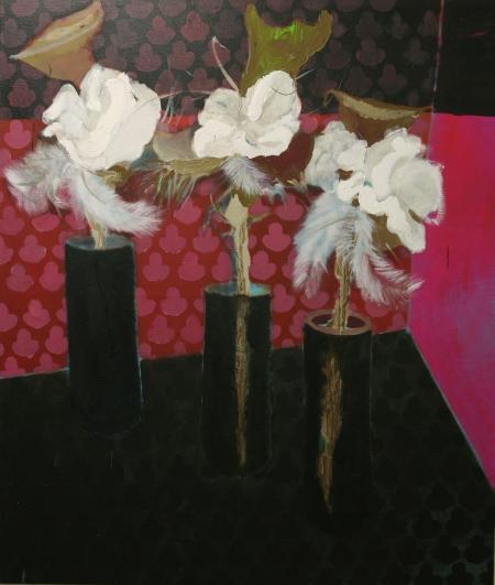 Kytice III, 200 x 170  cm, akryl na plátně