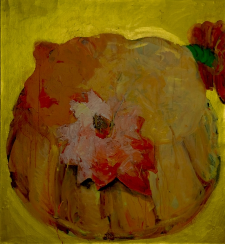 Bábovička I, 125 x 115 cm, akryl na plátně, soukromá sbírka