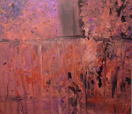 Balkon II, 105 x 130 cm, akryl na plátně, soukromá sbírka