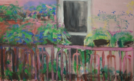 Balkon IV, 105 x 170 cm, akryl na plátně