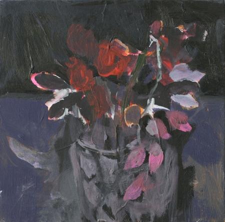 Broušená váza I, 25 x 25 cm, akryl na plátně, soukromá sbírka