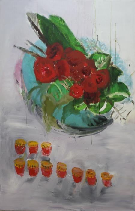 Devět vzpomínek, 200 x 140 cm, akryl na plátně