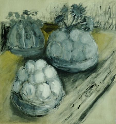 Bábovičky II, 150 x 130 cm, akryl na plátně