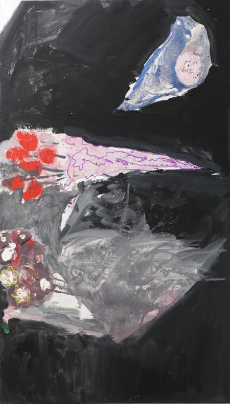 Hřbitovní kvítí, 165 x 100 cm, akryl na plátně