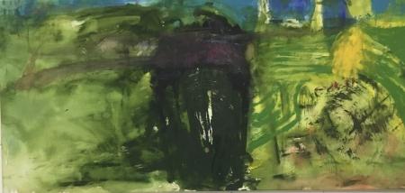 Kupka, 80 x 170 cm, akryl na plátně