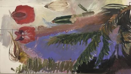 Borovice II, 110  x 80 cm, akryl na plátně