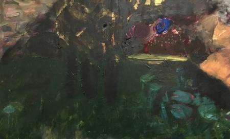 Jezírko III, 80 x 130 cm, akryl na plátně, soukromá sbírka