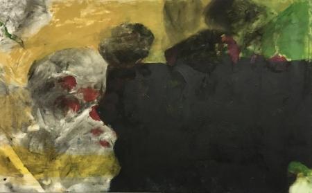 Jezírko II, 80 x 130 cm, akryl na plátně