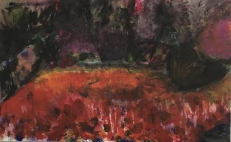 Jezírko I, 80 x 130 cm, akryl na plátně, soukromá sbírka