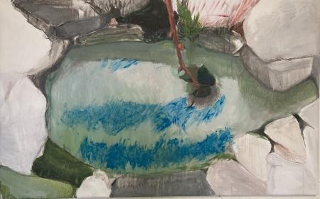 Jezírko IX, 95 x 170 cm, akryl na plátně