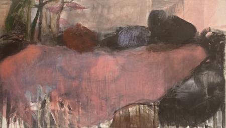 Jezírko XII, 95 x 170 cm, akryl na plátně