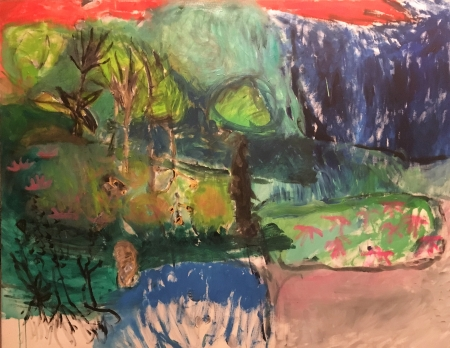 Kozín , 140 x 180 cm, akryl na plátně