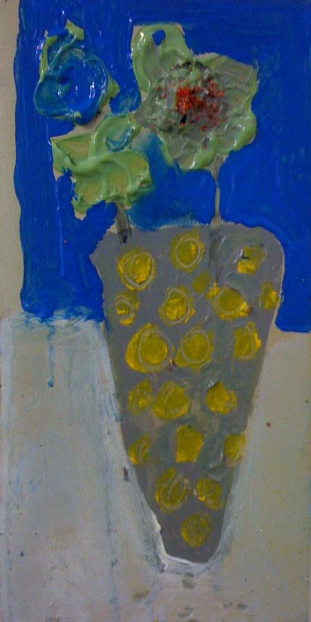 Kytka I, 25 x 18 cm, akryl na plátně, soukromá sbírka