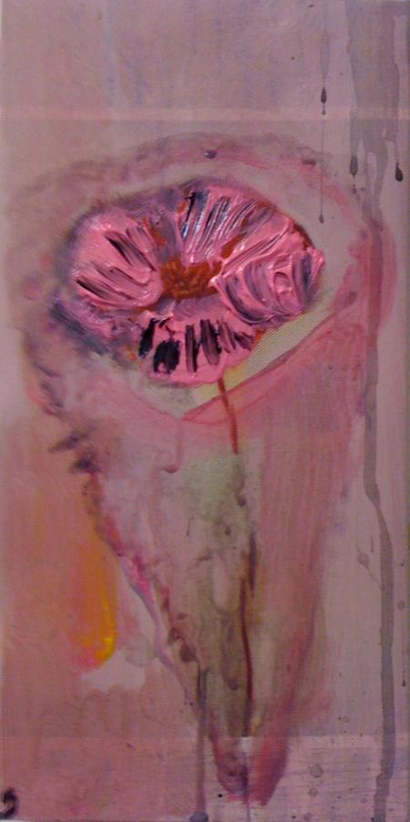 Kytka IV, 25 x 18 cm, akryl na plátně, soukromá sbírka