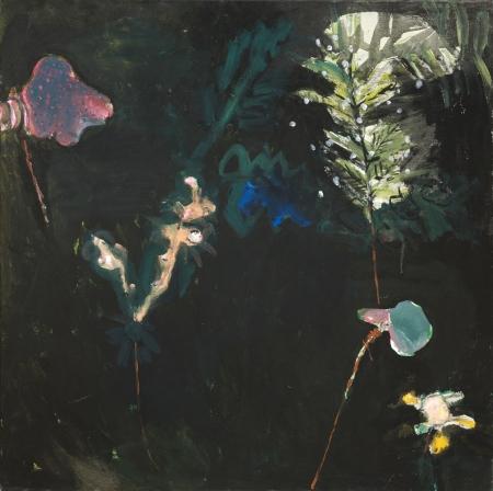 Políčko - Kozín II, 80 x 80 cm, akryl na plátně, reservováno