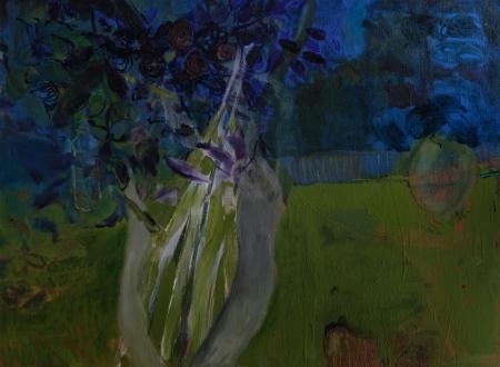 Nová Ves (Z cyklu Místa), 140 x 190 cm, akryl na plátně