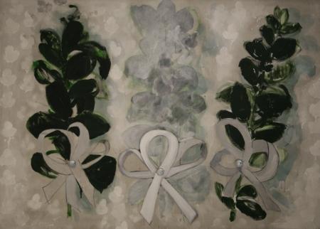 Myrty, 140 x 200 cm, akryl na plátně