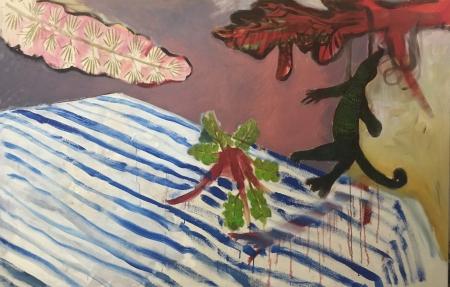 Zahrada V, 140 x 200 cm, akryl na plátně