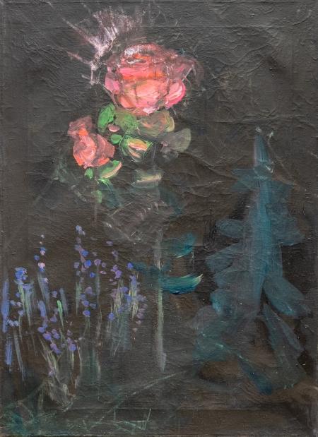 Lampa, 70 x 50 cm, akryl na plátně