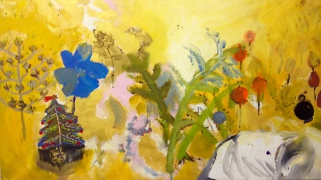 Políčko X, 95 x 175 cm, akryl na plátně