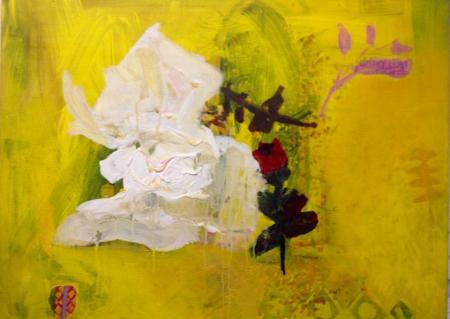 Políčko XV, 60 x 90 cm, akryl na plátně