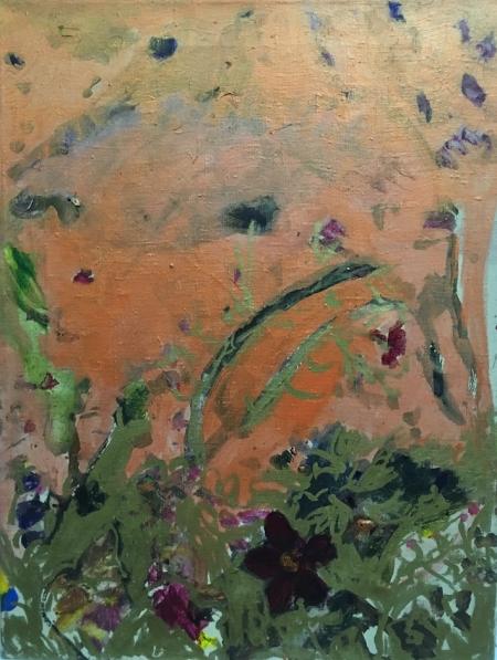Políčko, 70 x 50 cm, akryl na plátně
