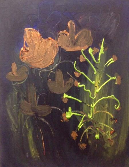 Políčko XVI, 70 x 50 cm, akryl na plátně