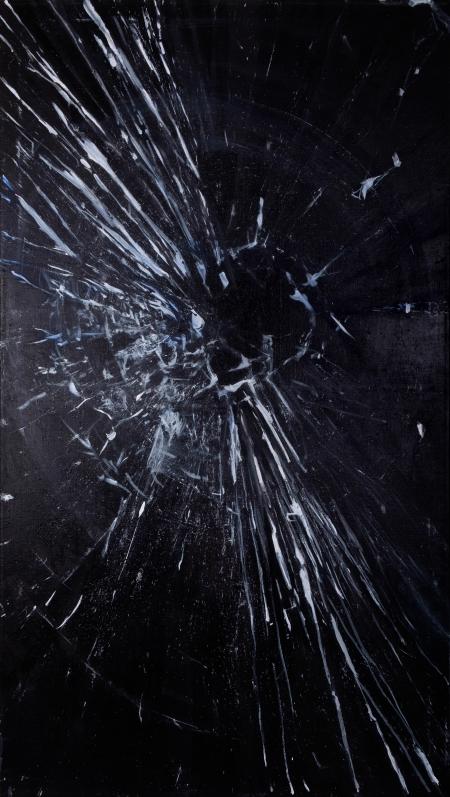 Prasklina I, 160 x 90 cm, akryl na plátně