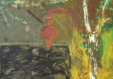 Pumpa, 140 x 200 cm, akryl na plátně