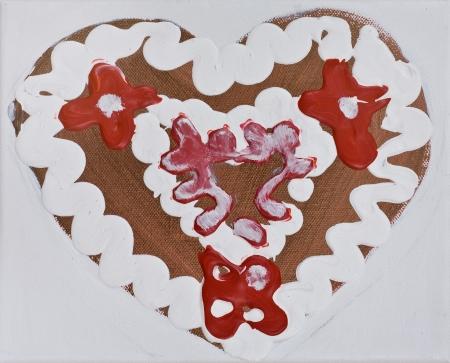 Z lásky III, 20 x 20 cm, akryl na plátně