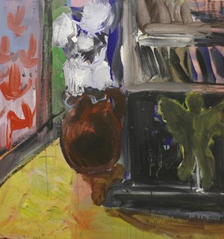Stůl VII, 80 x 80 cm, akryl na plátně